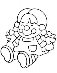 кукла картинки раскраски крупные (9)