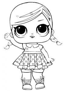 куклы лол картинки раскраски крупные (6)