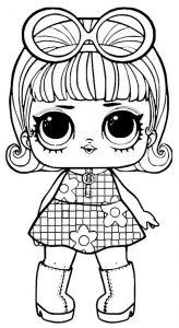 куклы лол раскраски картинки крупные (12)