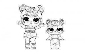 куклы лол раскраски картинки крупные (23)