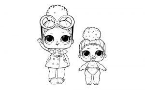 куклы лол раскраски картинки крупные (27)