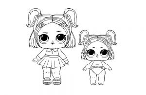куклы лол раскраски картинки крупные (30)