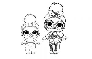 куклы лол раскраски картинки крупные (32)