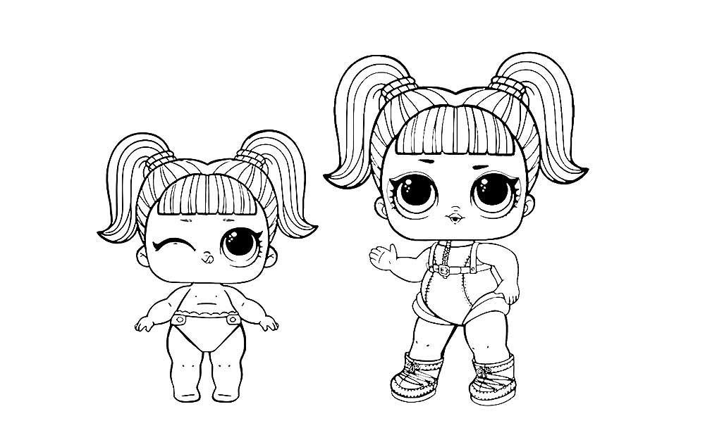 куклы лол раскраски картинки крупные 34 рисовака