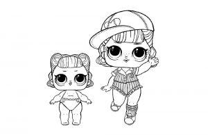 куклы лол раскраски картинки крупные (41)