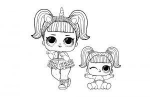 куклы лол раскраски картинки крупные (52)