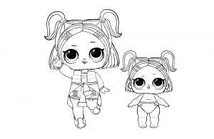 куклы лол раскраски картинки крупные (54)