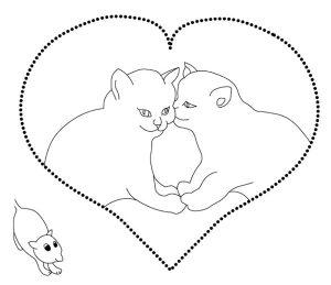 любовь картинки раскраски крупные (2)