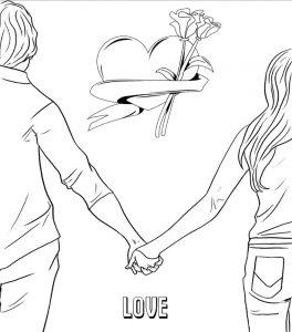 любовь картинки раскраски крупные (24)