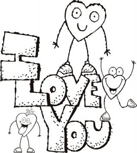 любовь картинки раскраски крупные (31)