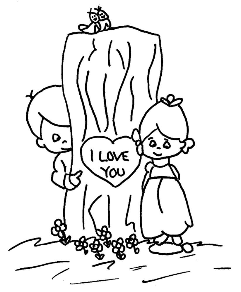 любовь картинки раскраски крупные (38)