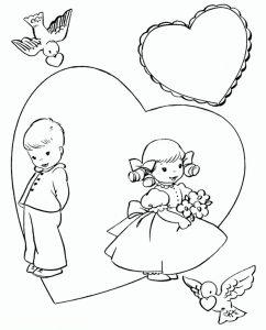 любовь картинки раскраски крупные (64)