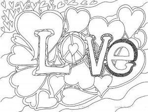 любовь картинки раскраски крупные (76)