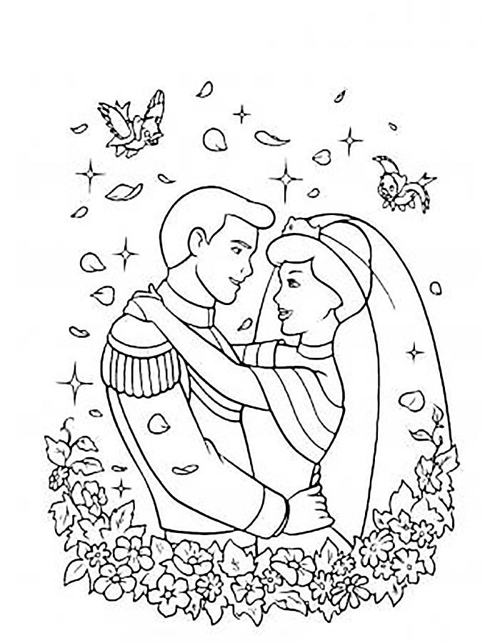 Картинки свадьба раскраски