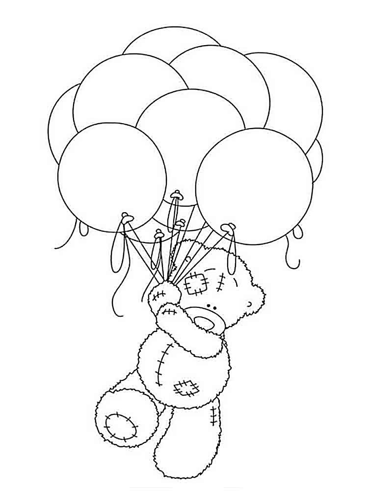 мишки тедди картинки раскраски крупные (16)