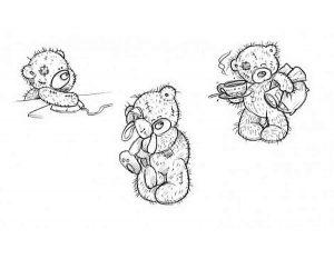 -тедди-картинки-раскраски-крупные-18-300x233 Мишки тедди