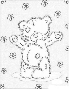 -тедди-картинки-раскраски-крупные-19-233x300 Мишки тедди