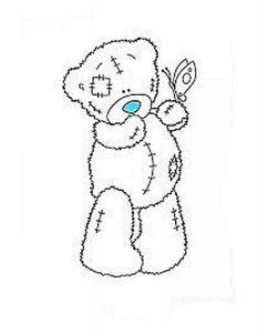 мишки тедди картинки раскраски крупные (3)