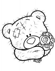 мишки тедди картинки раскраски крупные (9)