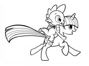 мой маленький пони искорка сумеречная картинки раскраски крупные (19)