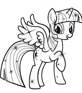 мой маленький пони искорка сумеречная картинки раскраски крупные (21)
