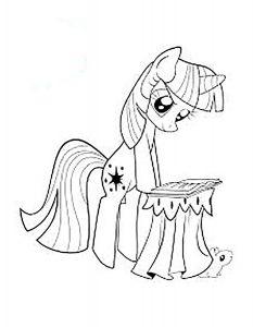 мой маленький пони искорка сумеречная картинки раскраски крупные (5)