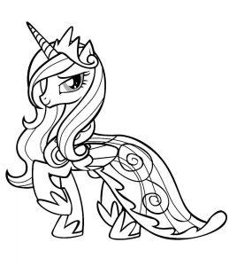 мой маленький пони каденс картинки раскраски крупные (10)