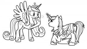 мой маленький пони каденс картинки раскраски крупные (2)