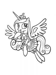 мой маленький пони каденс картинки раскраски крупные (8)