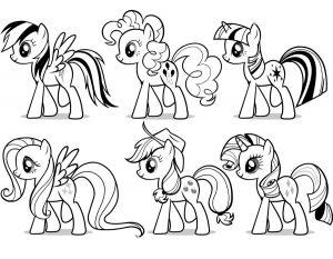 мой маленький пони понивил картинки раскраски крупные (12)
