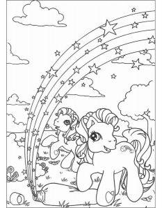 мой маленький пони понивил картинки раскраски крупные (5)