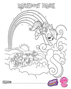 мой маленький пони радуга деш картинки раскраски крупные (1)