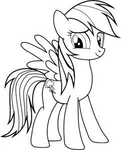 мой маленький пони радуга деш картинки раскраски крупные (13)