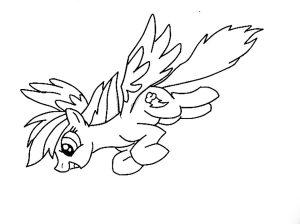 мой маленький пони радуга деш картинки раскраски крупные (19)