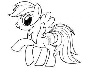 мой маленький пони радуга деш картинки раскраски крупные (4)