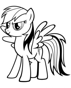 мой маленький пони радуга деш картинки раскраски крупные (6)