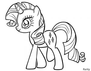 мой маленький пони рарити картинки раскраски крупные (1)