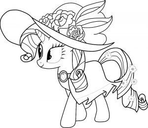 мой маленький пони рарити картинки раскраски крупные (12)