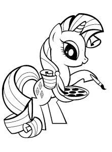 мой маленький пони рарити картинки раскраски крупные (13)