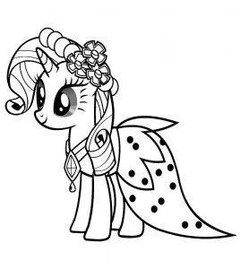 мой маленький пони рарити картинки раскраски крупные (2)