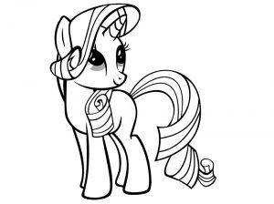 мой маленький пони рарити картинки раскраски крупные (4)