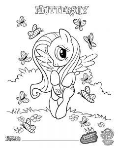 мой маленький пони флаттершай картинки раскраски крупные (11)