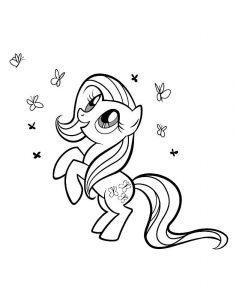 мой маленький пони флаттершай картинки раскраски крупные (15)