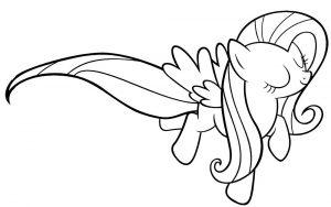 мой маленький пони флаттершай картинки раскраски крупные (3)