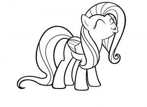 мой маленький пони флаттершай картинки раскраски крупные (5)