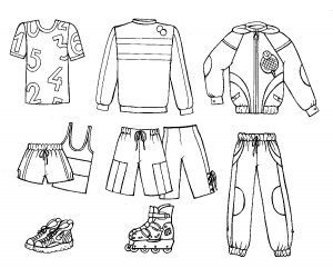 одежда для детей картинки раскраски крупные (14)