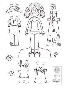 одежда для детей картинки раскраски крупные (15)