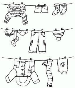 одежда для детей картинки раскраски крупные (17)