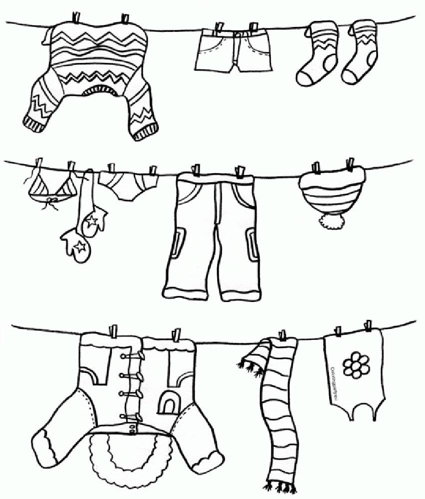 одежда для детей картинки раскраски крупные 17 рисовака
