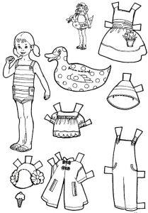 одежда для детей картинки раскраски крупные (18)